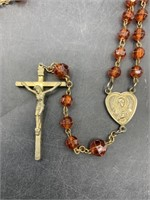 Amber colored rosary