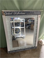Etched rectangle mirror 24x30in