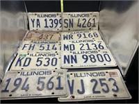 10 license plates