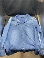 Women's jean jacket (medium) and quarter zip