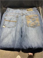 Ekco jeans with embroidery-size 34- and Enyce