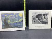 Small Van Gogh & Amsel Adams posters