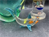 Glass vase, fish and more