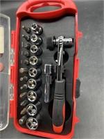 Husky 23 piece 1/4on drive socket set