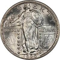 25C 1920 PCGS MS67 CAC