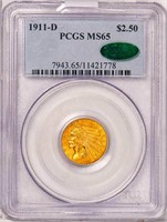 $2.50 1911-D STRONG D. PCGS MS65 CAC