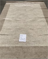 C - NEW BEIGE 7 X 10 VETTORE WELL WOVEN AREA RUG