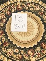 C - NEW OPTIMUM 8 X 10 BLACK/CREAM AREA RUG (13)
