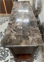 714 - STUNNING LEGENDS MARBLE TOP CONSOLE TABLE
