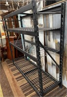 714 - METAL SHELVING UNIT