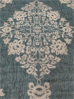 C - NEW SAFAVIEH TEAL/TAUPE 8X10 AREA RUG (16)