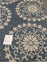 C - NEW SAFAVIEH 8X10 BLUE/CREAM AREA RUG (17)