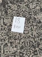 C - NEW SAFAVIEH STORMY GREY 8X10 AREA RUG (18)