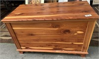 23 - BEAUTIFUL SOLID WOOD STORAGE CHEST