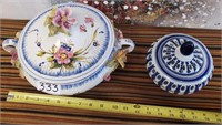 333 - LOT OF 2 COVERED DISHES