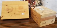 335 - LOT OF 2 WOOD BOXES