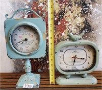 335 - LOT OF 2 TABLE CLOCKS