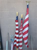 11 - LOT OF FLAGS & POLES