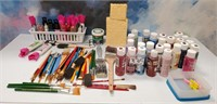 335 - LOT OF CRAFT PAINTS & MORE
