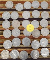 50 - LOT OF 30 BUFFALO NICKELS (3)