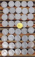 50 - LOT OF 40PCS INDIAN HEAD NICKLES (4)