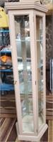 343 - BEAUTIFUL GLASS & WOOD CURIO CABINET
