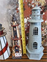 335 - LOT OF 3 LIGHTHOUSES