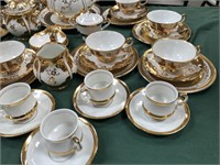 780 - BEAUTIFUL GOLD/WHITE CHINA SET