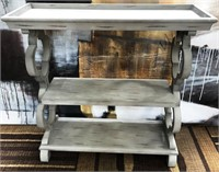 NEW WMC CHELSEA TRAY TOP GREY CONSOLE TABLE ($119)
