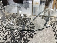 43 - NEW WMC CRESTVIEW HOLLYWOOD GLASS TABLES