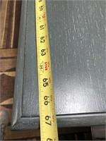 43 - NEW WMC MORRISEY TURNED LEG 2 DRAWER CONSOLE