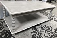 43 - NEW WMC CHALK GREY RECTANGLE COCKTAIL TABLE