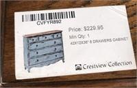 43 - NEW WMC 6 DRAWER DRESSER ($229.95)