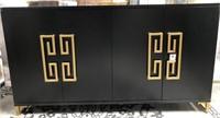 43 - NEW WMC BLACK/GOLD 4 DOOR SIDEBOARD ($449.95)