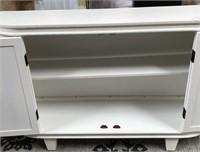 43 - NEW WMC WHITE CURVED CREDENZA ($359.95)