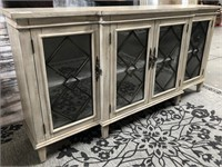 43 - NEW WMC 4 DOOR TEXTURED SIDEBOARD ($479.95)