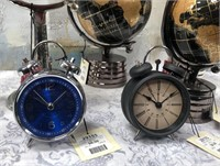43 - NEW WMC HUGE LOT OF GLOBES & CLOCKS