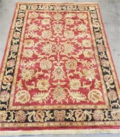 26 - BEAUTIFUL SHAW RED/GOLD 5 X 7 AREA RUG