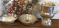 348 - LOT OF SILVER PLATED TRAYS & URN