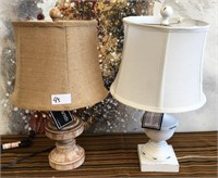 43 - NEW WMC 2 TABLE LAMPS