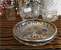 84 - LOT OF CRYSTAL DISHES & CANDY DISH