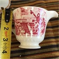 89 - VINTAGE FIRE KING MILK GLASS PLATE & CREAMER