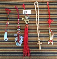 26 - LOT OF TASSLES & NECKLACE