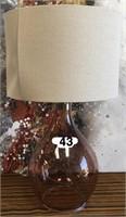 43 - NEW WMC GLASS TABLE LAMP