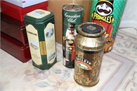 EMPTY XMAS TINS & GIFT BOXES, SOME COLLECTIBLE