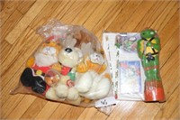 COLLECTIBLE TOYS - PLUSH GARFIELD, ODIE, TMNT