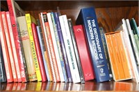 LOT OF BOOKS, LEATHER BOUND ATLAS, SPACE AGE ATLAS