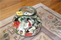 VINTAGE JAR OF NEW 1970s MATCHBOOKS  - COLLECTIBLE
