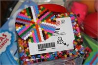MISC KIDS TOYS, KARATE KID DART BOARD; IKEA PYSSLA