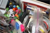 BOX OF OFFICE SUPPLIES, MOSTLY BRAND NEW ITEMS